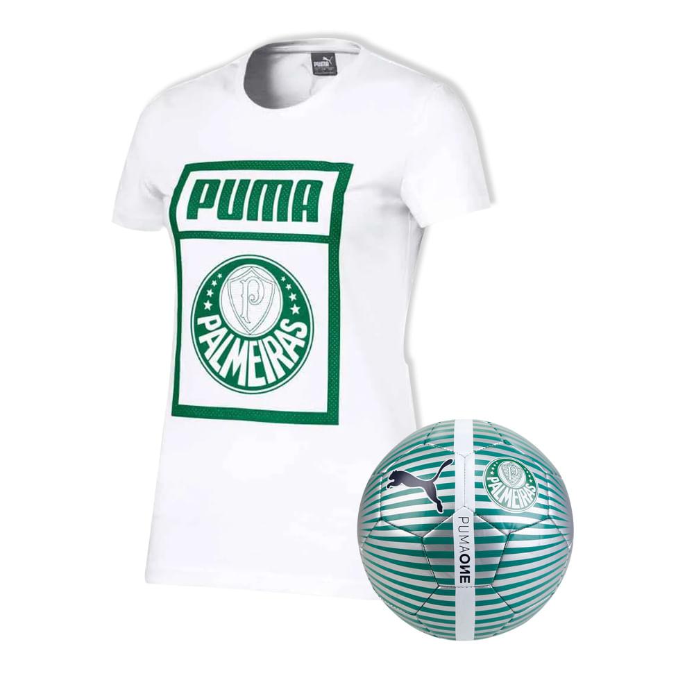 Camiseta-Casual-Palmeiras-Puma-Branca-19-20---Feminina---Bola